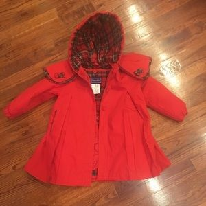 Darling Red 24M ROTHSCHILD Dress Swing Trench COAT